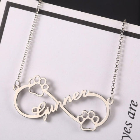 Image of paw print necklace - Cute Cats Store