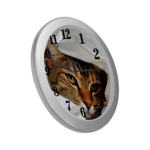 tabby wall clock - Cute Cats Store