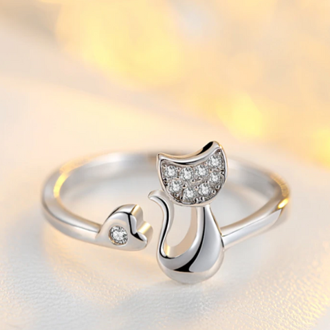 Image of cat lover ring - Cute Cats Store