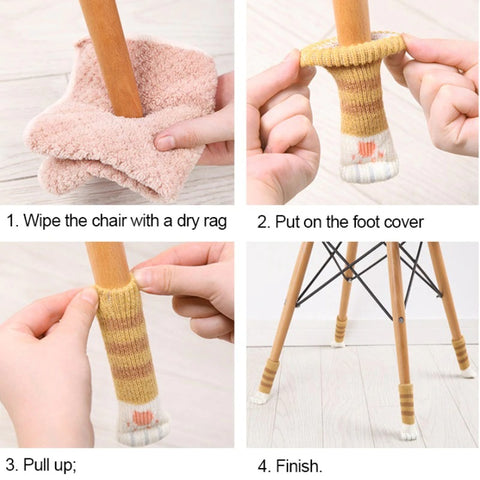 Cat Paw Chair Leg Socks - Cute Cats Store
