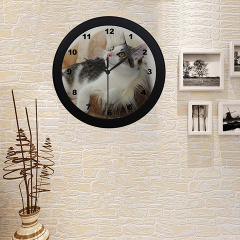 "Jinx Cat Wall Clock 9"" Quartz Movement Gifts For Cat Lovers"
