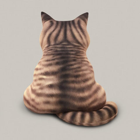 cat back shape pillow - Cute Cats Store