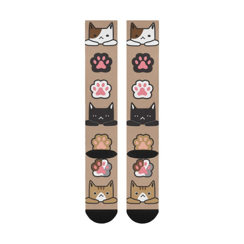 beige cat socks - Cute Cats Store