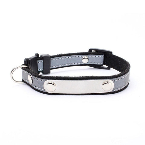 personalized leather cat collars - Cute Cats Store