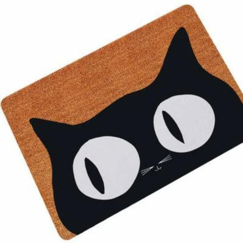Image of Floor Mat Big Eyes / 40x60cm / Brown/Black - Cute Cats Store