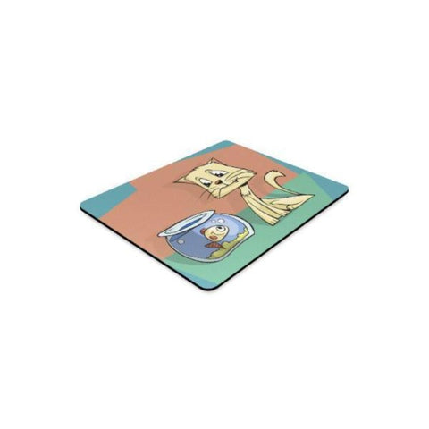 Image of Cat And Fish Mousepad - Cute Cats Store