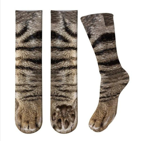 Kitty Paw Print Socks - Cute Cats Store