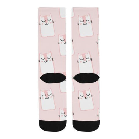 Pink Cat Socks - Cute Cats Store