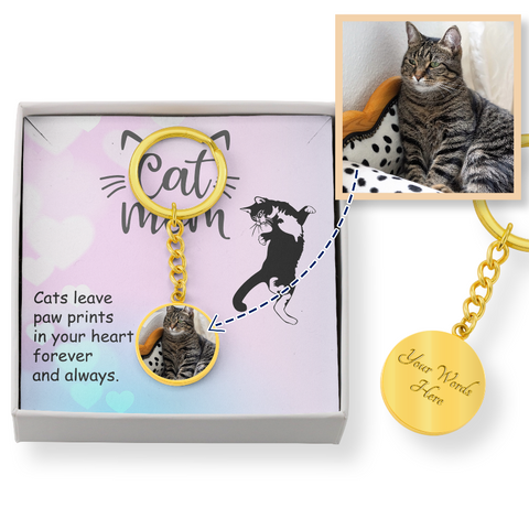 Image of custom cat keychain - Cute Cats Store