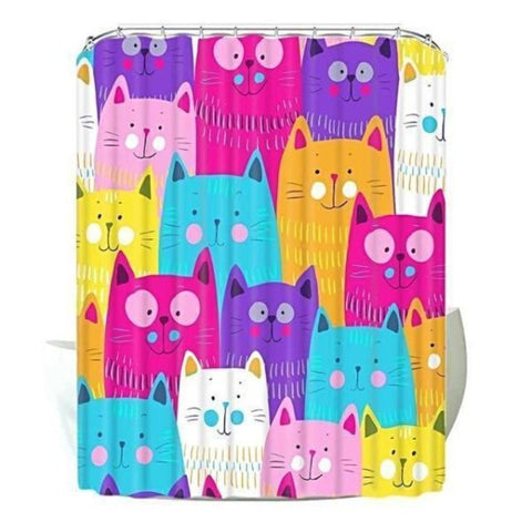 cat shower curtains - Cute Cats Store