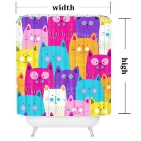 cat Shower Curtain - Cute Cats Store