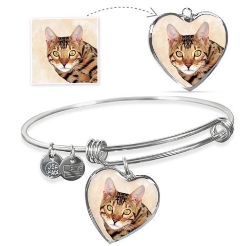 Image of cat bangle bracelet - Cute Cats Store