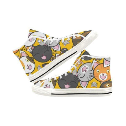 Image of shoes with cat faces on them - Cute Cats Store