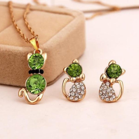 Cat Jewelry Set - Cute Cats Store