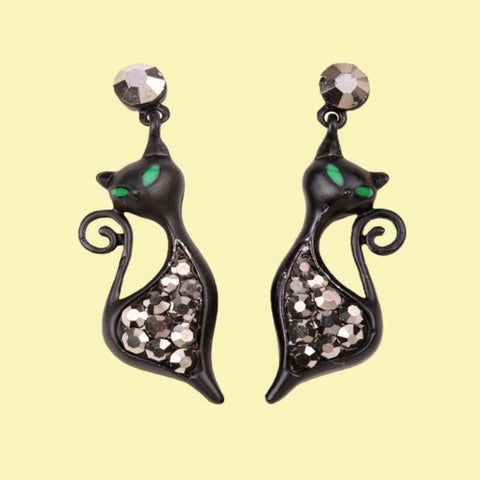 black cat earrings - Cute Cats Store
