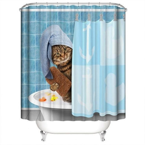 Cat Bathroom Curtain - Cute Cats Store