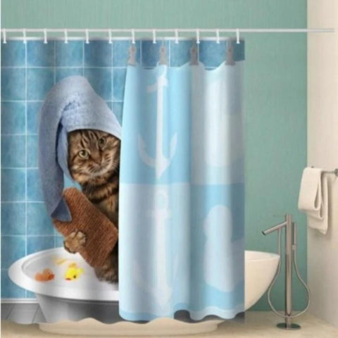 funny cat shower curtain - Cute Cats Store