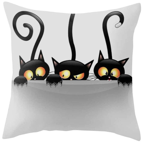 Cute Cat Pillow Case Funny Pillow Covers Cat Lovers Gifts