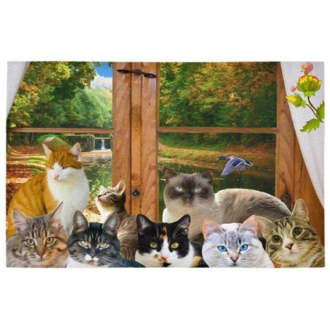 Image of cat themed floor mats - Cute Cats Store