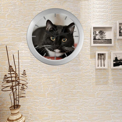 "Casper Cat Lover Wall Clock 9"" Quartz Movement Gift For Cat Lovers"