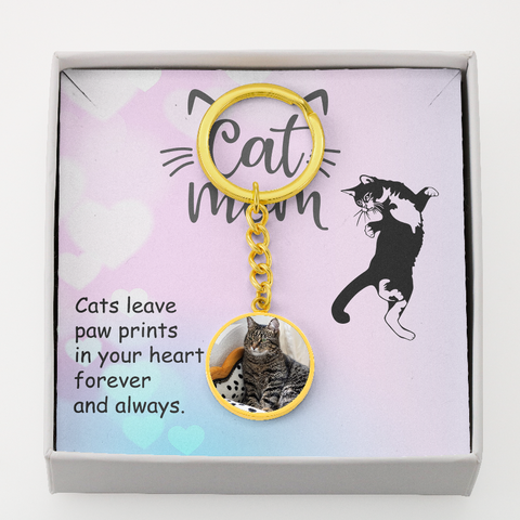 Image of personalized cat keychain - Cute Cats Store