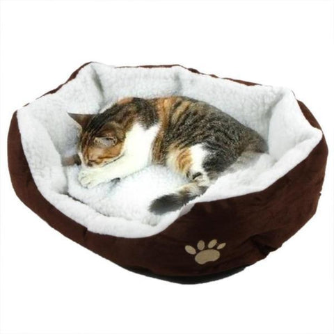 Cat Bed Coffee / 50X40cm - Cute Cats Store