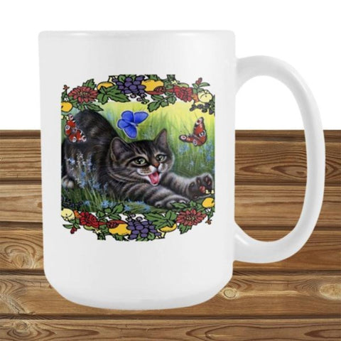 Drinkware 15 Oz / White - Cute Cats Store