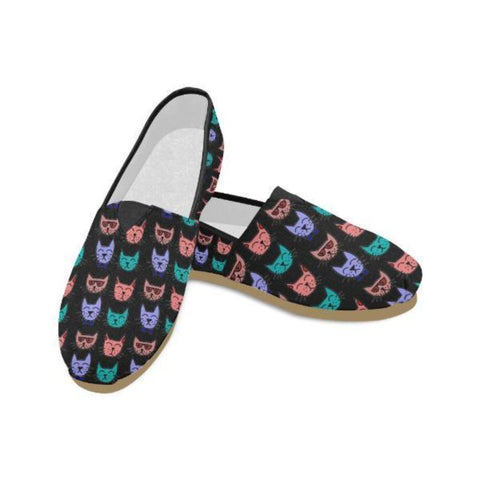 Image of Cat Lover Casual Flats - Cute Cats Store