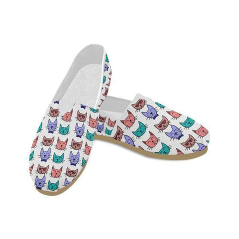 Image of Personalized Cat Lovers Casual Flats - Cute Cats Store