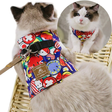 Adjustable Cat Harness with leash - Cute Cats Store