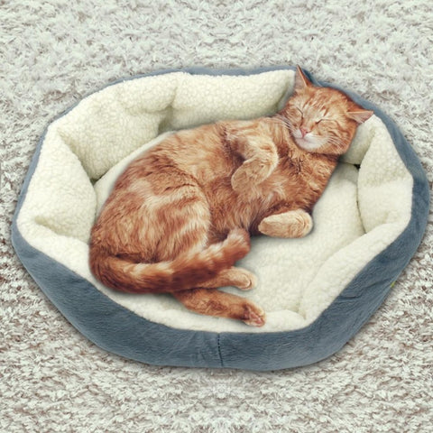 "Kazzie Plush Cat Bed Filled With PP Cotton 19.68"" x 15.74"""