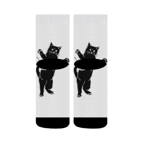 Image of Crew Socks Black Cat - Cute Cats Store