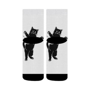 Crew Socks Black Cat - Cute Cats Store