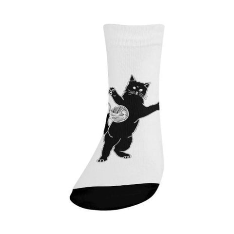 Image of crew socks with designs - Cute Cats Store