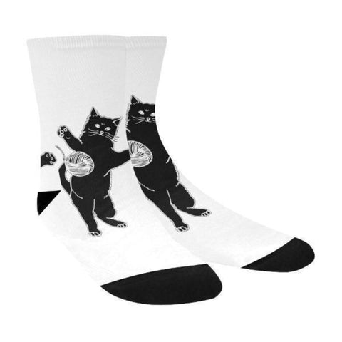 Image of Black Cat Unisex Socks - Cute Cats Store