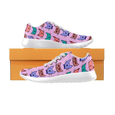 Meow Women Sneakers - Cute Cats Store