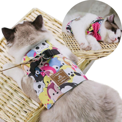 Adjustable Cat Harness Vest With Leash - Cute Cats Store