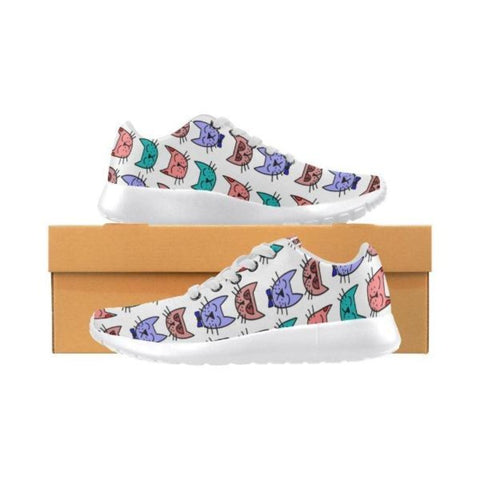 Image of womens cat sneakers - Cute Cats Store