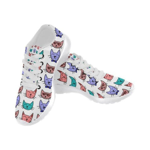 Canvas Shoes US6 / Multi - Cute Cats Store