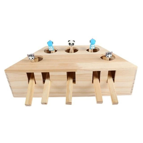 Interactive Cat Wooden Toy - Cute Cats Store