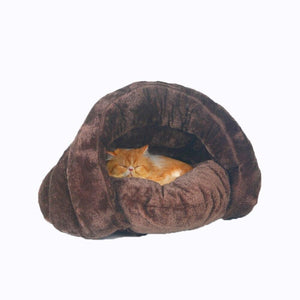 Snoozzzy Cat Bed Cave Cozy Plush Cat House With Removable Mat