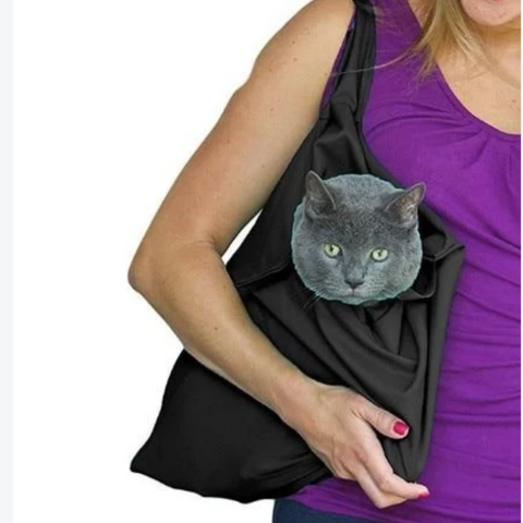 cat bag Black / 48x38cm - Cute Cats Store
