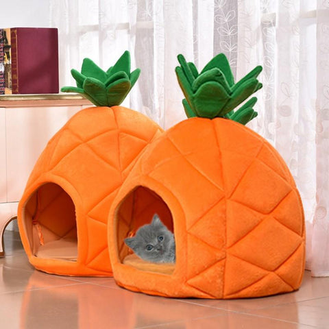 "Cat Bed 14.96""x14.96""x17.71"" / Orange - Cute Cats Store"