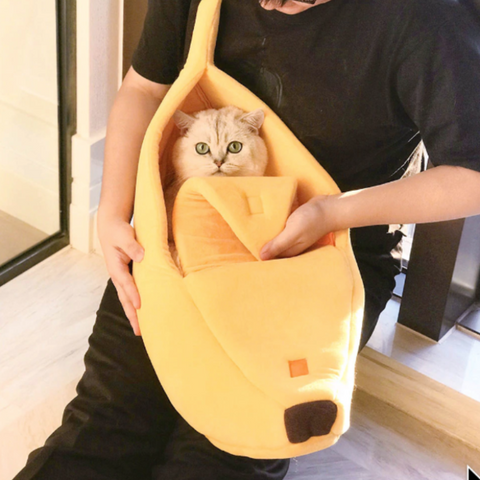 Image of Cat Bed Yellow / L - Cute Cats Store