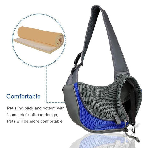 Carrier For Cat Sling Backpack Bag Breathable Adjustable Shoulder Strap
