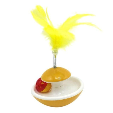 cat ball toy with feather - Cute Cats Store
