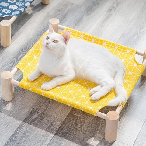Image of Natural Wood Cat Hammock - Cute Cats Store