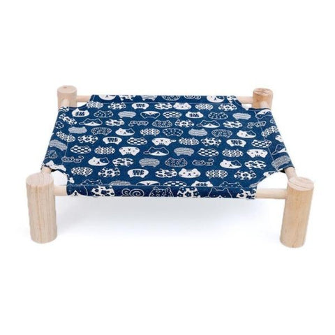 Image of Cat Hammock Dark Blue Bed - Cute Cats Store