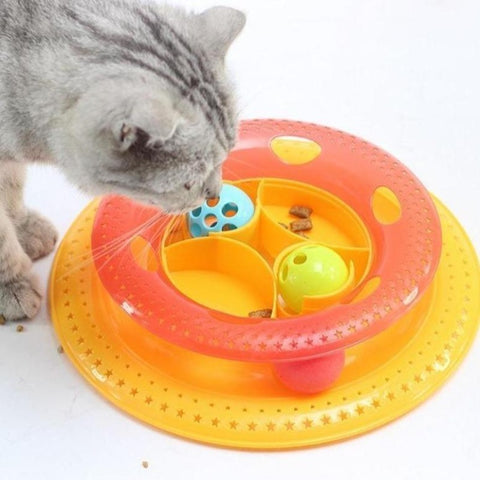 "Image of Cat Toy Disc Yellow / 7.66*1.97*9.43"" - Cute Cats Store"