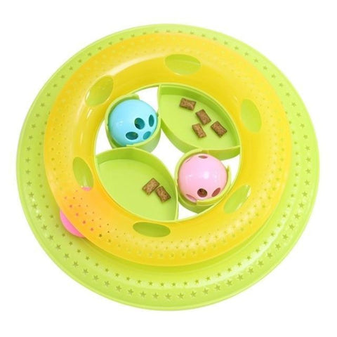 "Image of Cat Toy Disc Light Green / 7.66*1.97*9.43"" - Cute Cats Store"